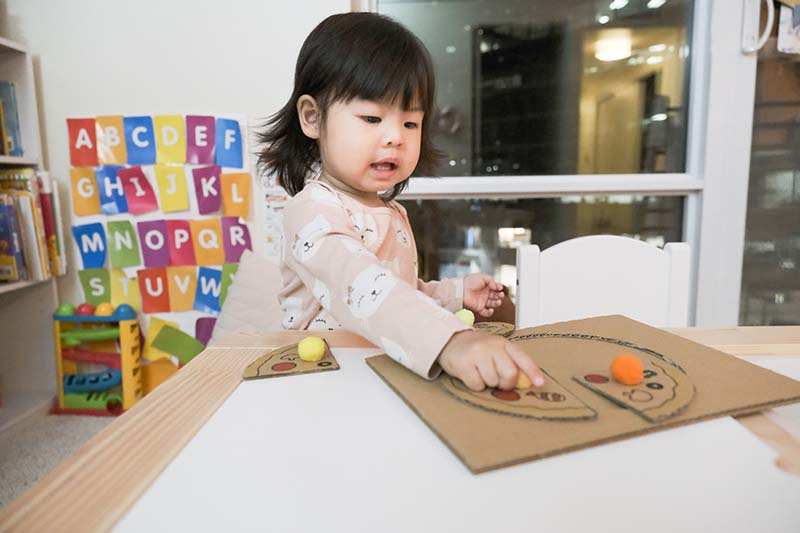 DIY Cardboard Pizza Puzzle for Toddlers